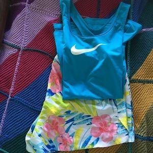 Nike shirt and short set
